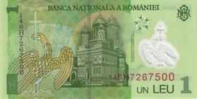 Rumänien / Romania P.117i 1 Leu 2014 Polymer (1)