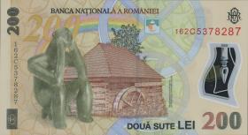 Rumänien / Romania P.122d 200 Lei (20)16 Polymer (1)