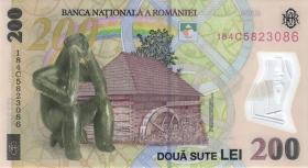 Rumänien / Romania P.neu 200 Lei (20)18 Polymer (1)