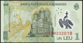 Rumänien / Romania P.117k 1 Leu 2017 Polymer (1)