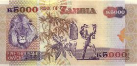 Sambia / Zambia P.41b 5000 Kwacha 2001 (1)