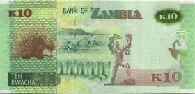 Sambia / Zambia P.58 10 Kwacha 2015 (1)