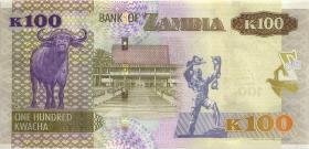 Sambia / Zambia P.61 100 Kwacha 2015 (1)