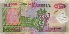 Sambia / Zambia P.44d 1000 Kwacha 2005 Polymer (1)