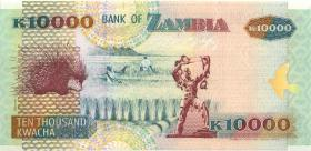 Sambia / Zambia P.42a 10.000 Kwacha 1992 (1)