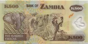 Sambia / Zambia P.43r 500 Kwacha 2004 X3 Polymer (1)
