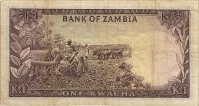 Sambia / Zambia P.05  1 Kwacha (1968) (3-)