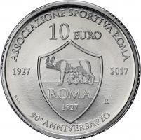San Marino 10 Euro 2017 90 Jahre AS Rom im Blister