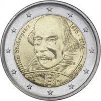 San Marino 2 Euro 2016 Shakespeare