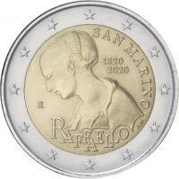 San Marino 2 Euro 2020 500. Todestag Raffael