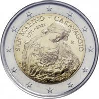 San Marino 2 Euro 2021 Caravaggio