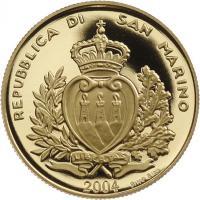 San Marino 2 Scudi 2004 (Gold) Gotische Fibel