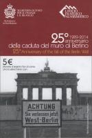 San Marino 5 Euro 2014 25 J. Fall der Berliner Mauer