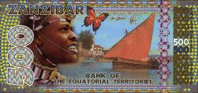 Sansibar / Zanzibar 500 Francs Equatoriaux 2015 (1)
