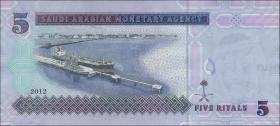 Saudi-Arabien / Saudi Arabia P.32c 5 Riyals 2012 (1)