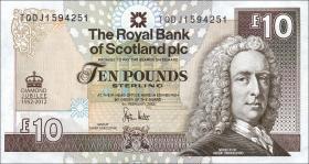 Schottland / Scotland P.368 10 Pounds 2012 Diamond Jubilee