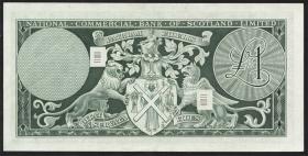 Schottland / Scotland National Commercial Bank P.274 1 Pound 1968 (2+)
