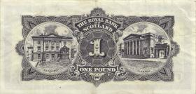 Schottland / Scotland Royal Bank P.325b 1 Pound 1965 (3+)