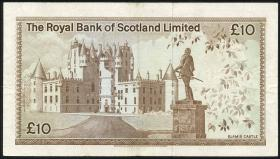 Schottland / Scotland Royal Bank P.338 10 Pounds 1977 (3)