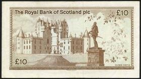 Schottland / Scotland Royal Bank P.343a 10 Pound 1982 (3)