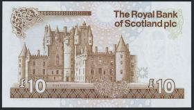 Schottland / Scotland Royal Bank P.348 10 Pounds 1987 (1) low number