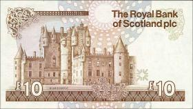 Schottland / Scotland Royal Bank P.348 10 Pounds 1990 (3+)