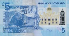 Schottland / Scotland Bank of Scotland P.130 5 Pounds 2016 (1)