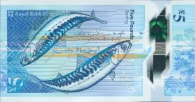 Schottland / Scotland Royal Bank P.neu 5 Pounds 2016 Polymer (1)