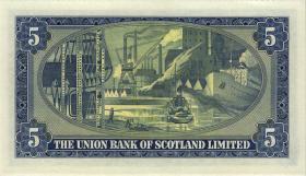 Schottland / Scotland Union Bank P.S817a 5 Pounds 1952 (1)