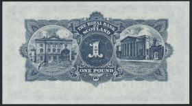 Schottland / Scotland Royal Bank P.324a 1 Pound 1955 (1)