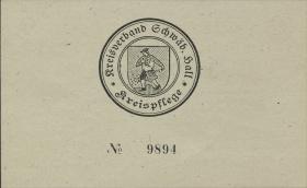 Schwäbisch Hall 2 Reichsmark 16.4.1945 (1)