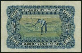 Schweiz / Switzerland P.35q 100 Franken 2.12.1943 (3)