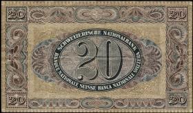 Schweiz / Switzerland P.33e 20 Franken 1927 (3)