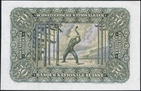 Schweiz / Switzerland P.34o 50 Franken 1947 (2+)
