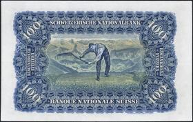 Schweiz / Switzerland P.35u 100 Franken 1947 (2+)