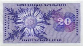 Schweiz / Switzerland P.46o 20 Franken 1967 (1/1--)