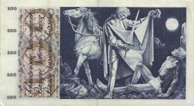 Schweiz / Switzerland P.49h 100 Franken 1965 (3+)
