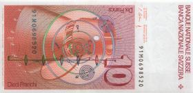 Schweiz / Switzerland P.53j 10 Franken 1991 (1)