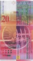 Schweiz / Switzerland P.69e 20 Franken 2008 (1)