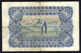 Schweiz / Switzerland P.35c 100 Franken 1927 (3-)