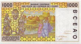 West-Afr.Staaten/West African States P.711Ka 1000 Francs 1991 (1)