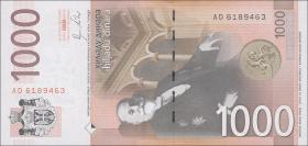 Serbien / Serbia P.60a 1000 Dinara 2011 (1)