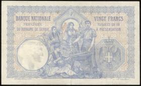 Serbien / Serbia P.11 20 Dinara 1905 (3+)