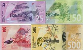 Seychellen / Seychelles P.48/51 25 Rupien - 500 Rupien 2016 (1)