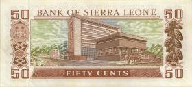 Sierra Leone P.09 50 Cents 1980 Gedenkausgabe (1-)