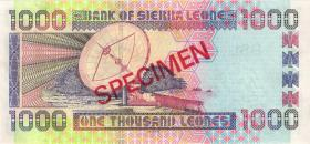 Sierra Leone P.24s 1000 Leones 2003 Specimen (1)