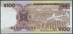 Singapur / Singapore P.23a 100 Dollars (1985) (2+)