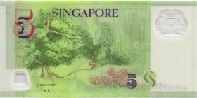 Singapur / Singapore P.47a 5 Dollars (2014) Polymer (1)