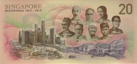 Singapur / Singapore P.neu 20 Dollars (2019) Polymer (1)
