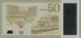 Singapur / Singapore P.61 50 Dollars 2015 Polymer Gedenknote (1)